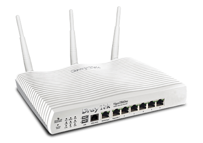 DrayTek Vigor 2860ac Triple-WAN WiFi Router VPN & 3G/4G LTE Support