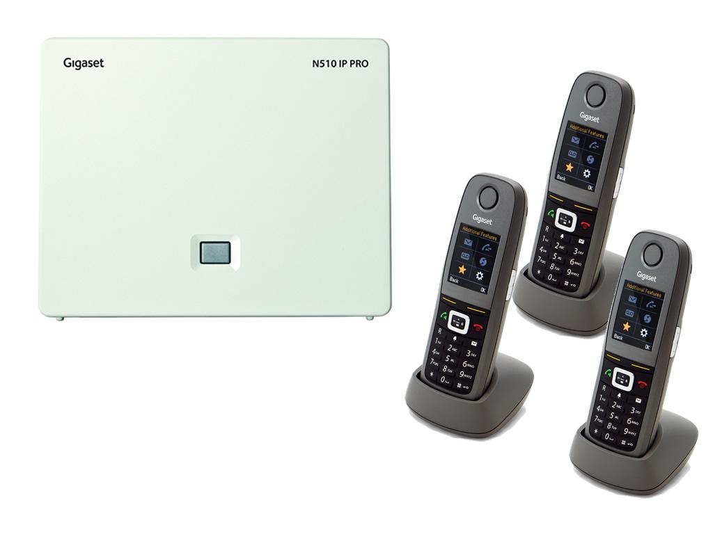 Gigaset N510 / 3 x R630 IP Bundle