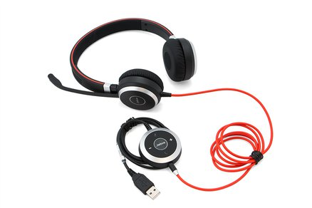 Jabra Evolve 40 MS Duo Headset Controls
