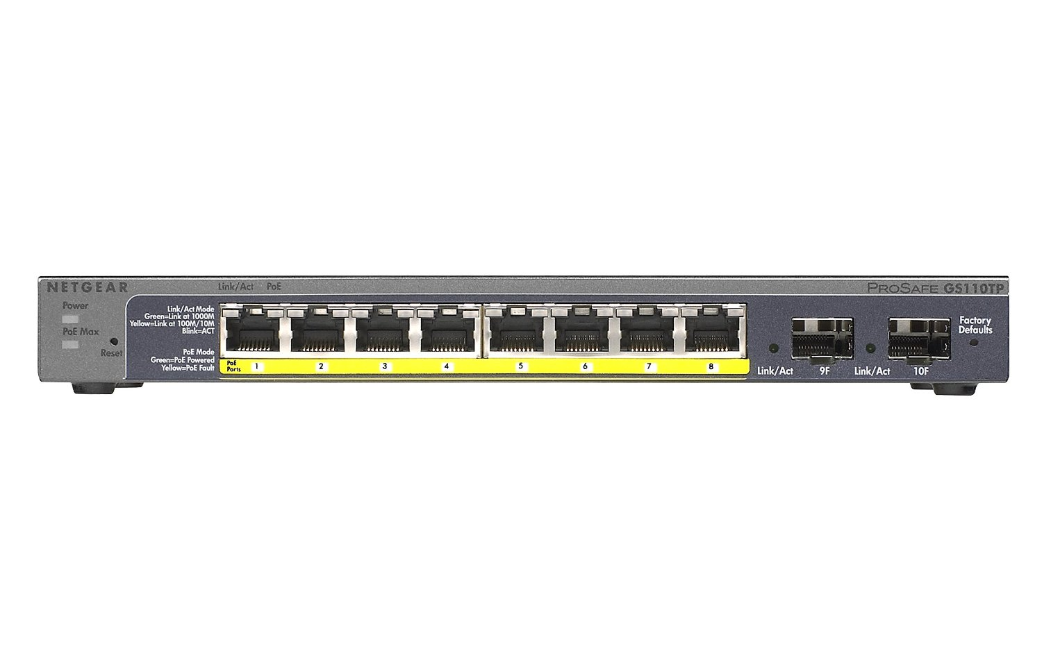 Netgear GS 110 Switch Front