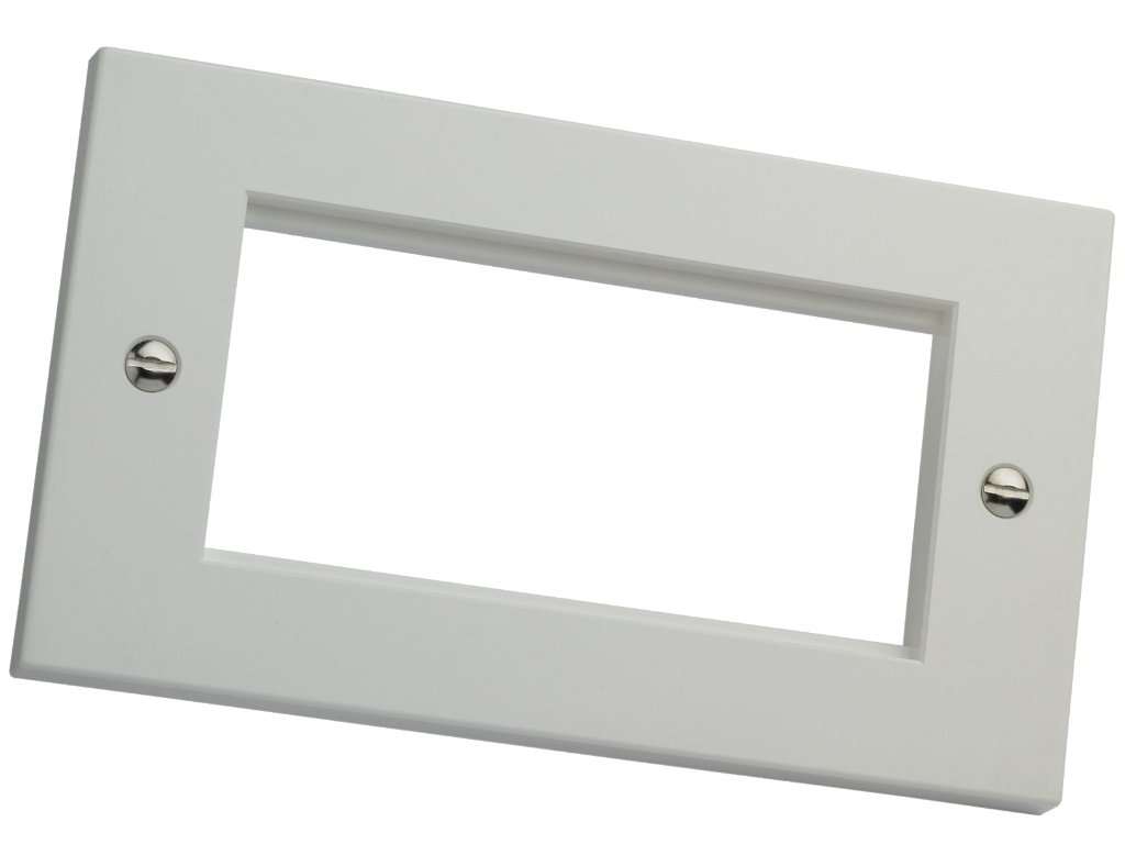 Double Gang Faceplate Flat