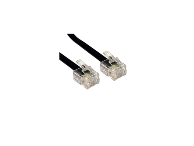 RJ11 1m Black Cable