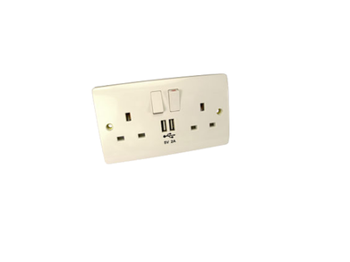 Wall Socket with USB Ports