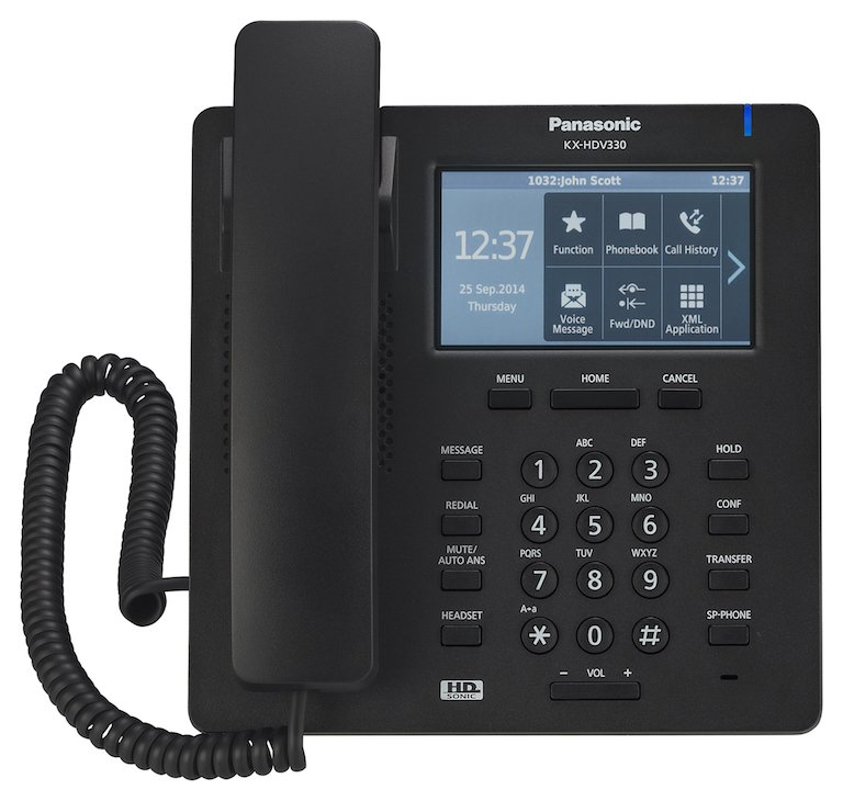 Panasonic KX-HDV330XB IP Phone Front