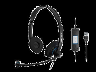 Sennheiser SC60-USB-CTRL Binaural Headset Front