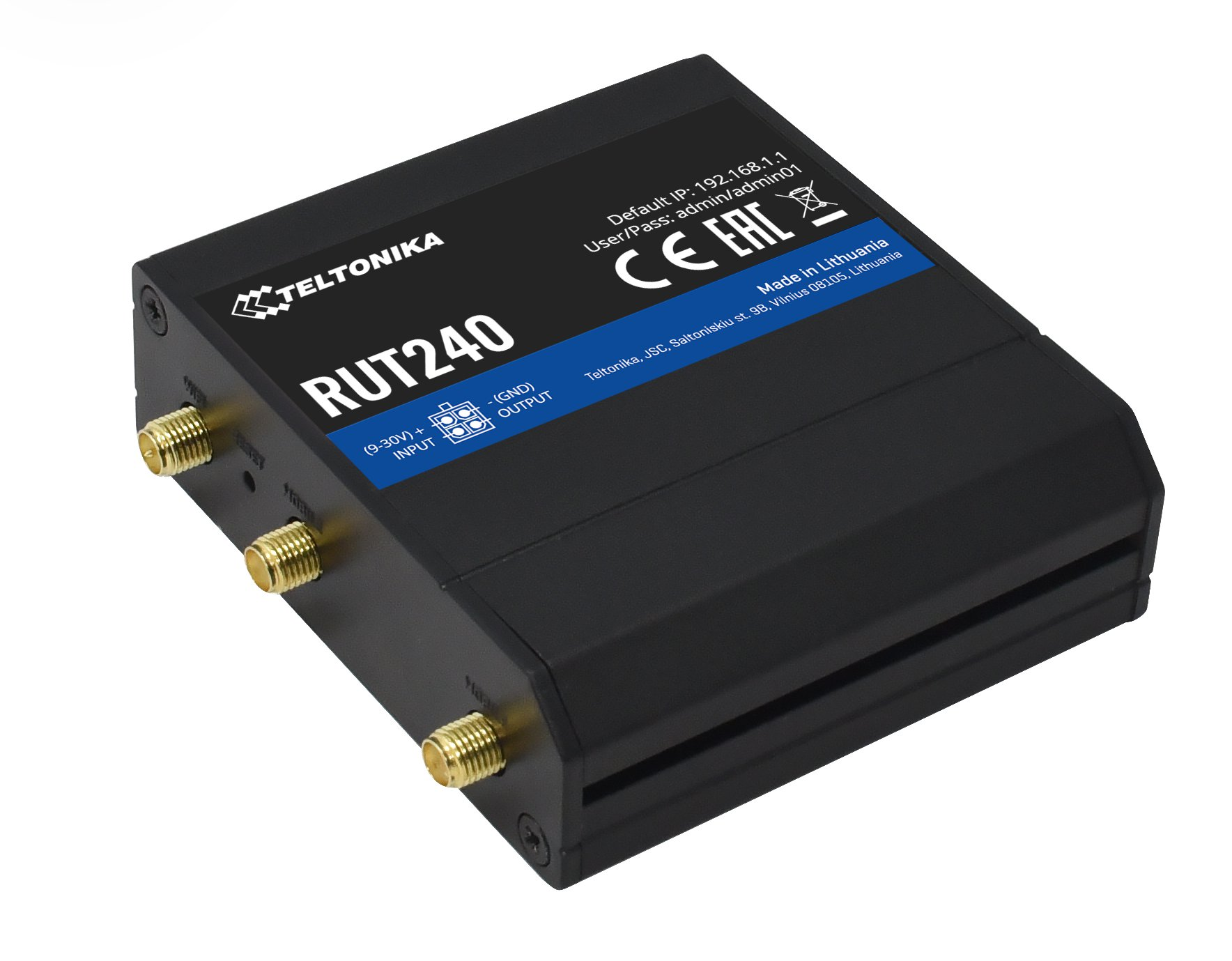 RUT240 LTE Router Side Angle RMS Bundle