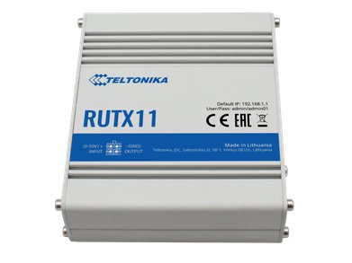 RUTX11 LTE WiFi Router Front Angle