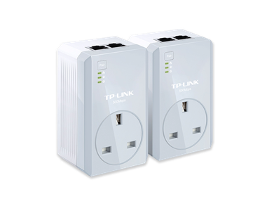 TP-Link TL-PA4020PKIT V1.20 AV600 Passthrough Powerline Starter Kit