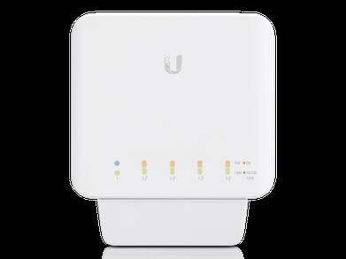 USW-FLEX 5 Port Gigabit Switch Front Angle
